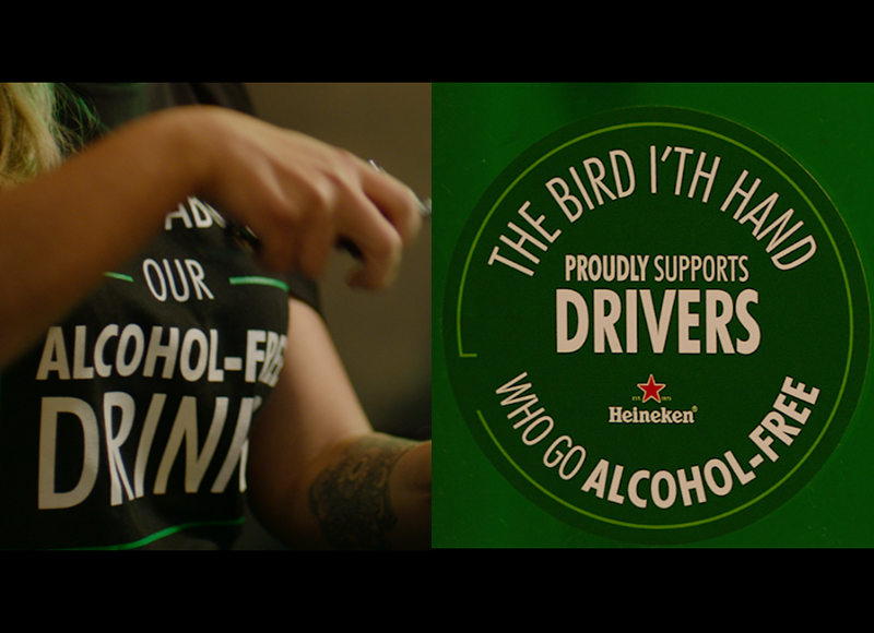 We designed a range of interventions to test in bars including incentives to make a commitment, and prompts about alternative drink options on t-shirts and signs.